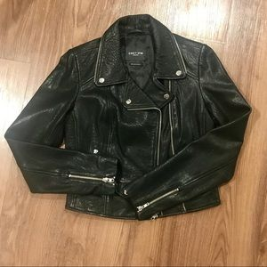 Obey 100% Genuine Leather Moto Jacket - never used